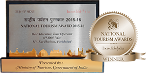 Best Adventure Tour Operator, National Tourism Award 2015-16