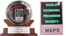 International Business Excellence Award, by World Economic Progress Society, 1997